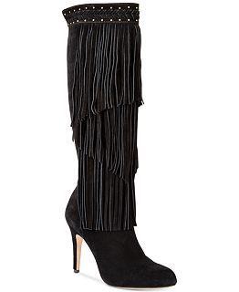 be5e54a8c86 Steve Madden Women's Maraka Fringe Heeled Boots - Boots - Shoes ...