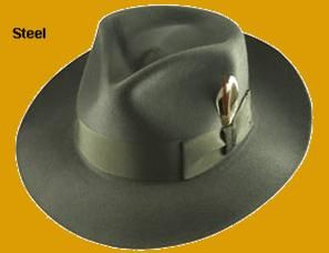 c6828508 Fedora C crown Biltmore Rosellini. Steel Grey. Hatsplus.com ...