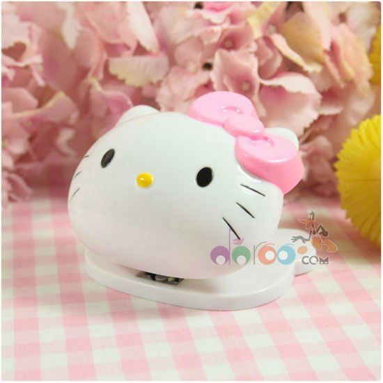 mini hello kitty stationary school book stapler