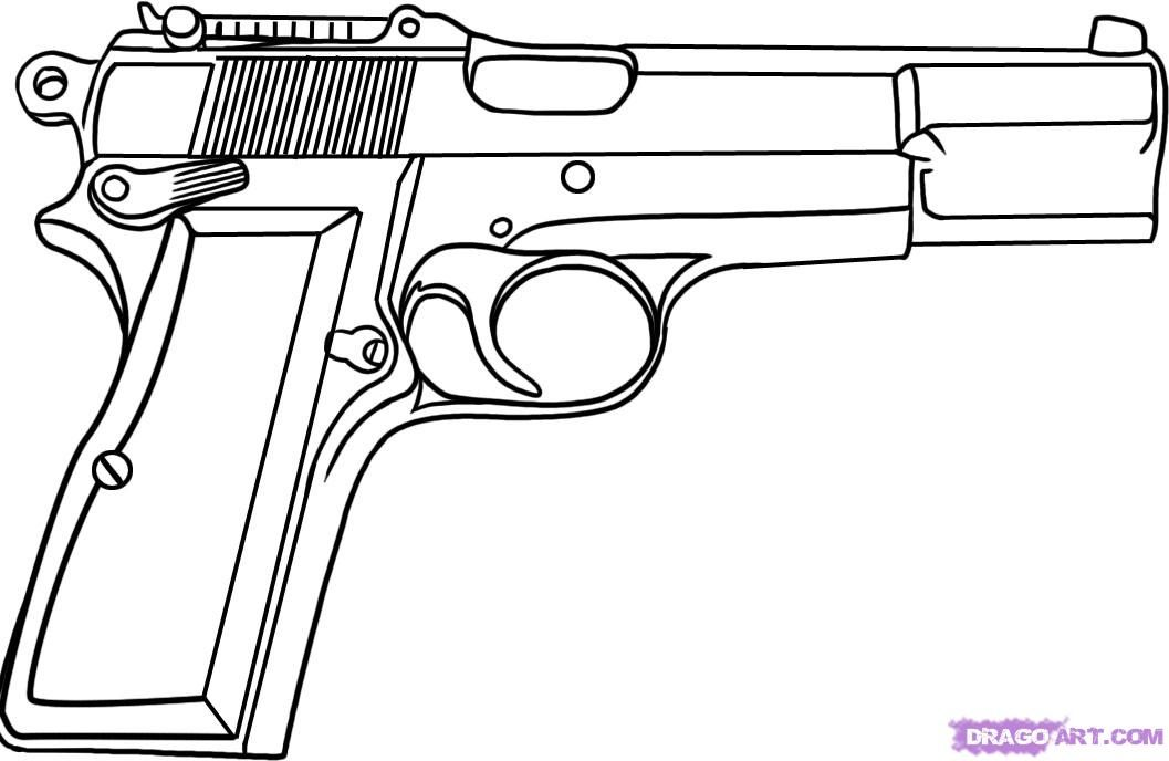 REALLY GOOD drawing of a 9mm pistol  1fccc852922