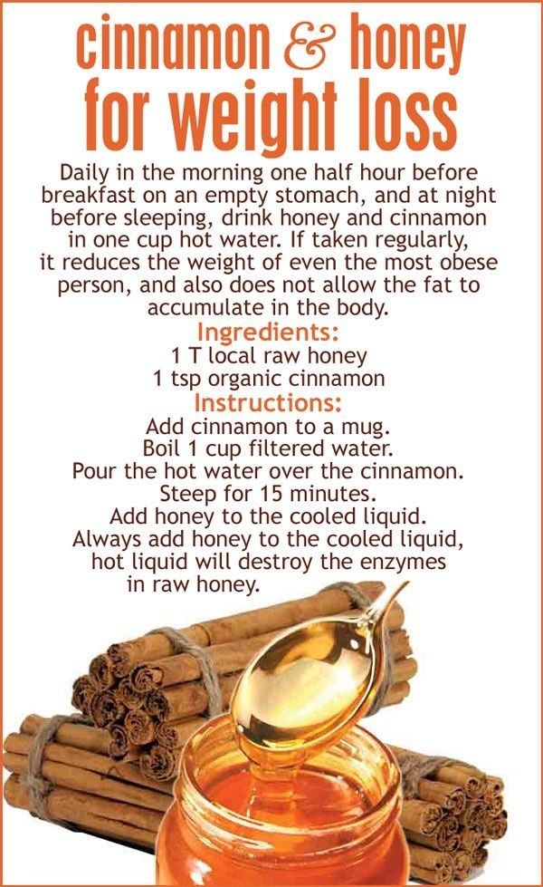 cinnamon and raw honey to lose weight