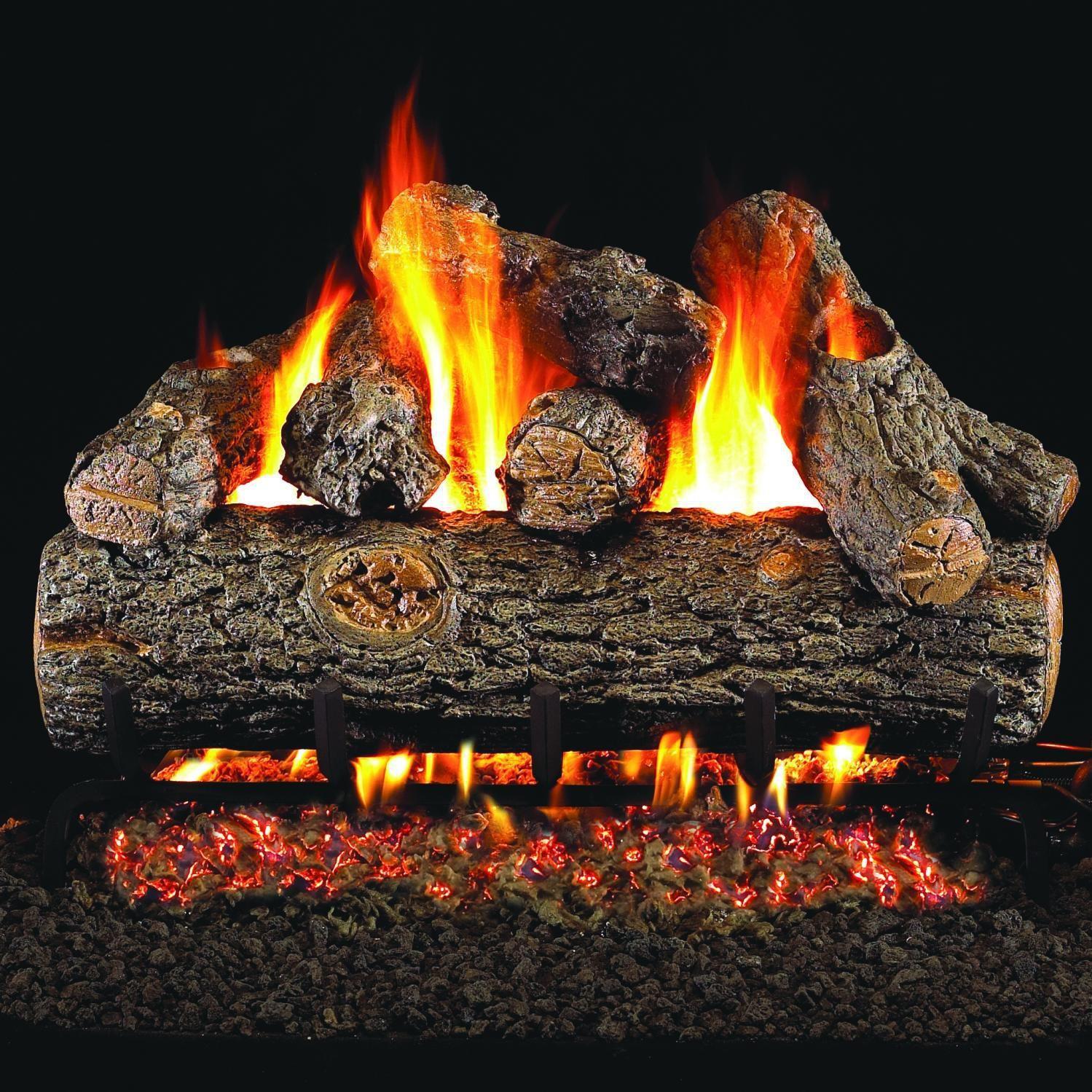 Peterson Real Fyre 19 Inch Golden Oak Designer Plus Gas Log Set