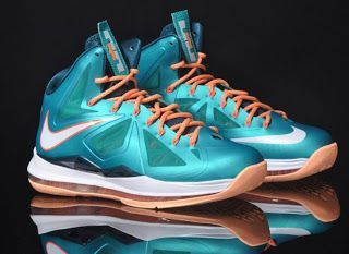 a38e7ec5b66 Nike Lebron X Dolphins 10 Sneaker (Images   Release Info)