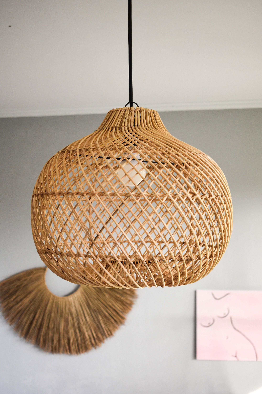 Handmade Rattan Lamp Shade Free Shipping Wicker Lamp Rustic