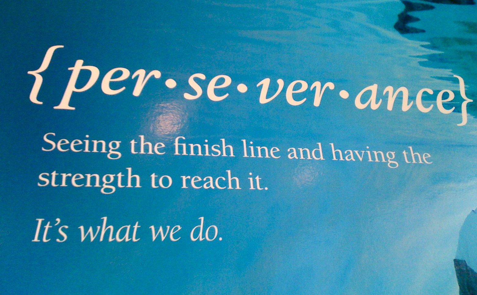 Quote About Physical Therapy: {per`se`ver`ance} Seeing The Finish Line And Having The