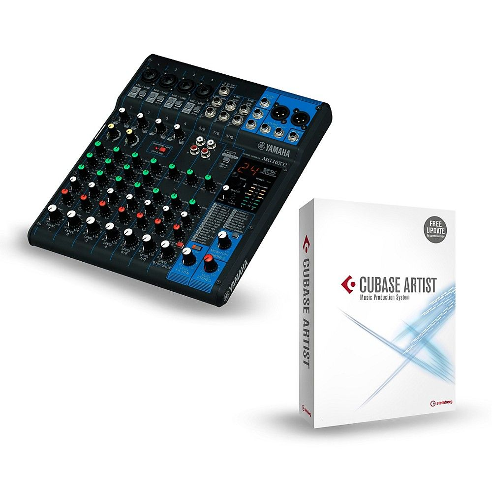 Yamaha Mg10xu 10 Channel Mixer With Cubase Artist Products In 2018