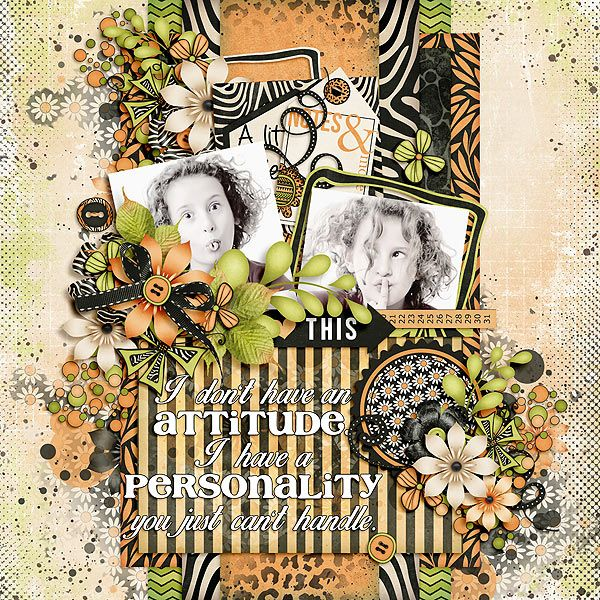 attitude layout by Julie/Mother Bear using A Bit of Attitude Kit