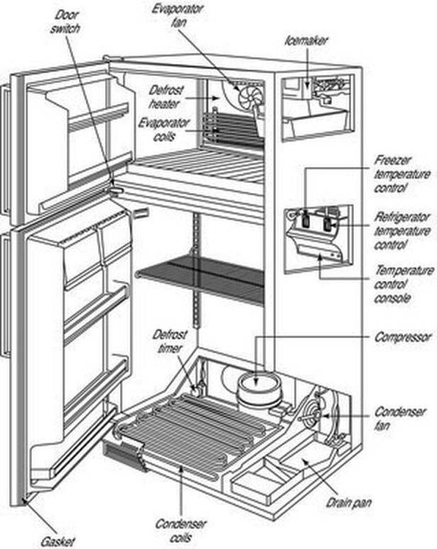 Refrigerator Diagram | Kitchenaid Refrigerator Parts Diagram Kitchens In 2019 Pinterest