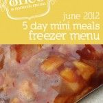 5 Day Mini Menus