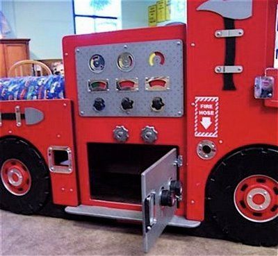 fire truck bed projects to try fire truck bedroom fire truck rh pinterest com