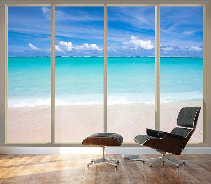Large Beach Wallpaper For Home Office