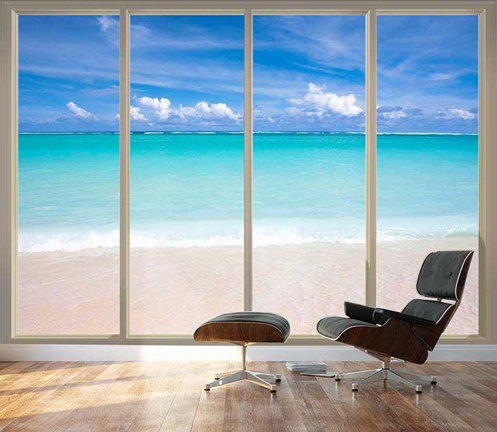 Large Beach Wallpaper For Home Office Living Room Desing