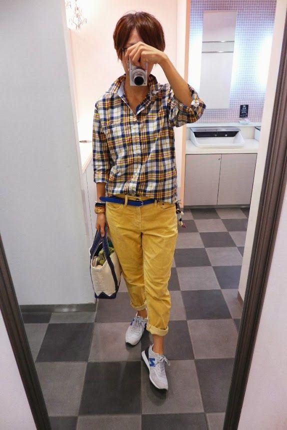 やっぱりボーイズスタイルはラクチン。 二日連続のGAPKIDSコーデです。  Shirt/GAPKIDS Bottoms/GAP Bag/L.L.Bean Shoes/NB  Today is the coordination of blue and yellow.