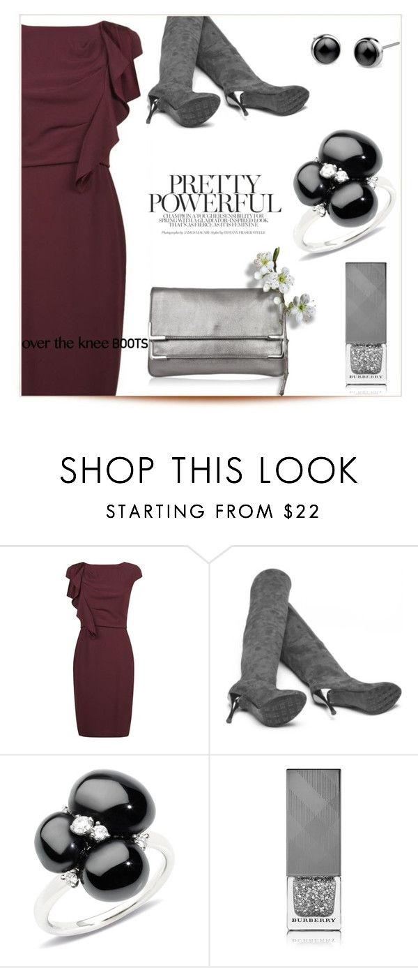 """Over-The-Knee Boots II"" by letiperez-reall ❤ liked on Polyvore featuring MaxMara, Pomellato and Burberry"