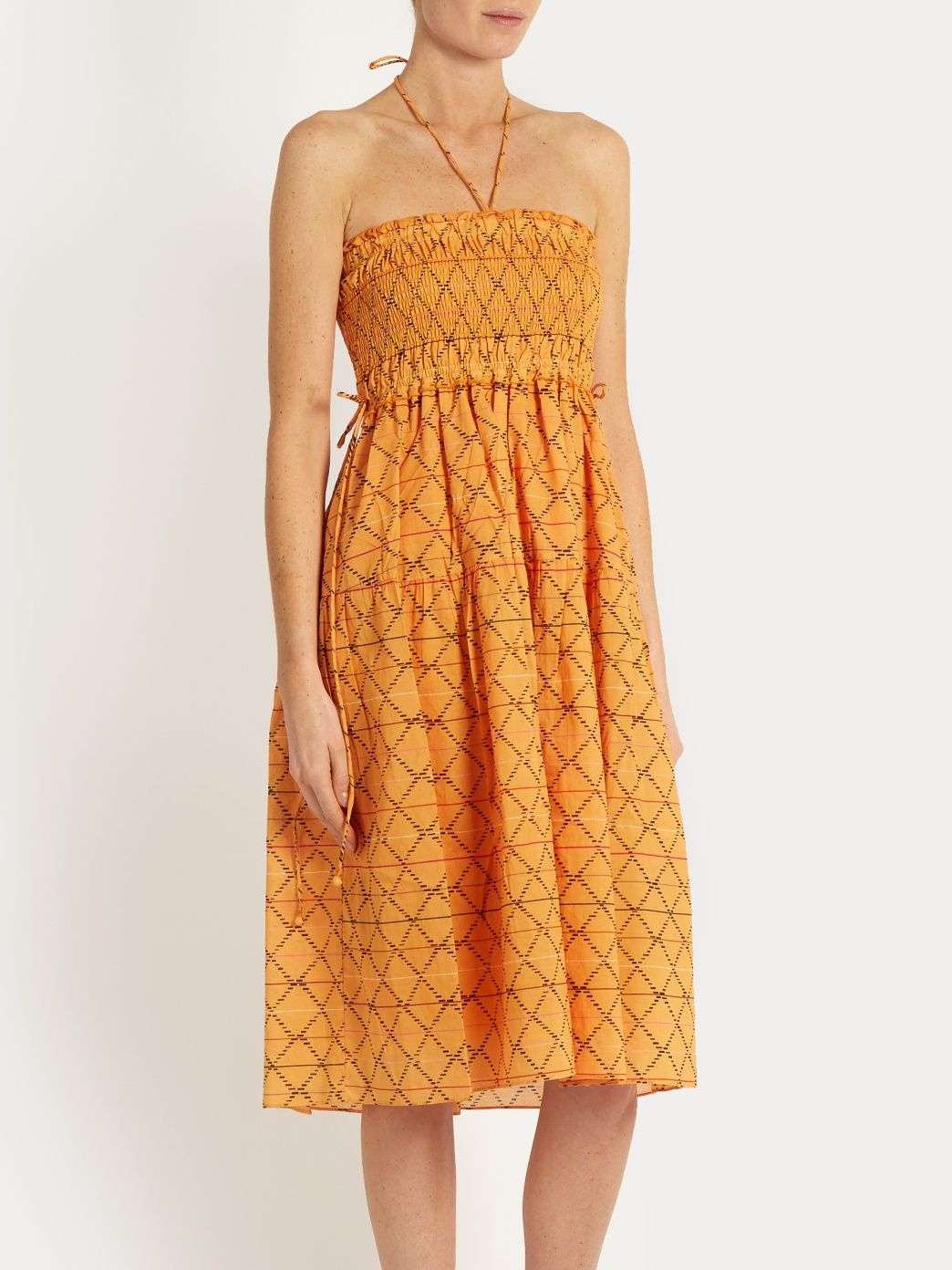 Nueva Nambe smocked-cotton dress | APIECE APART | MATCHESFASHION.COM