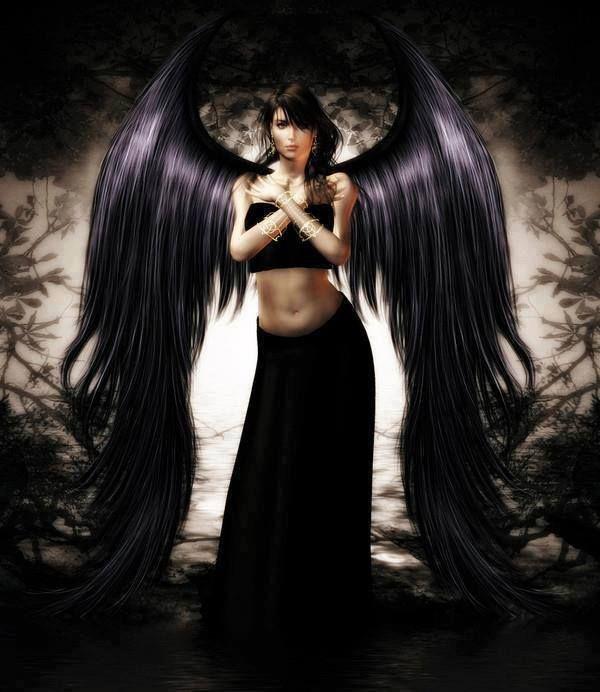 фото и картинки черного ангела собрал для