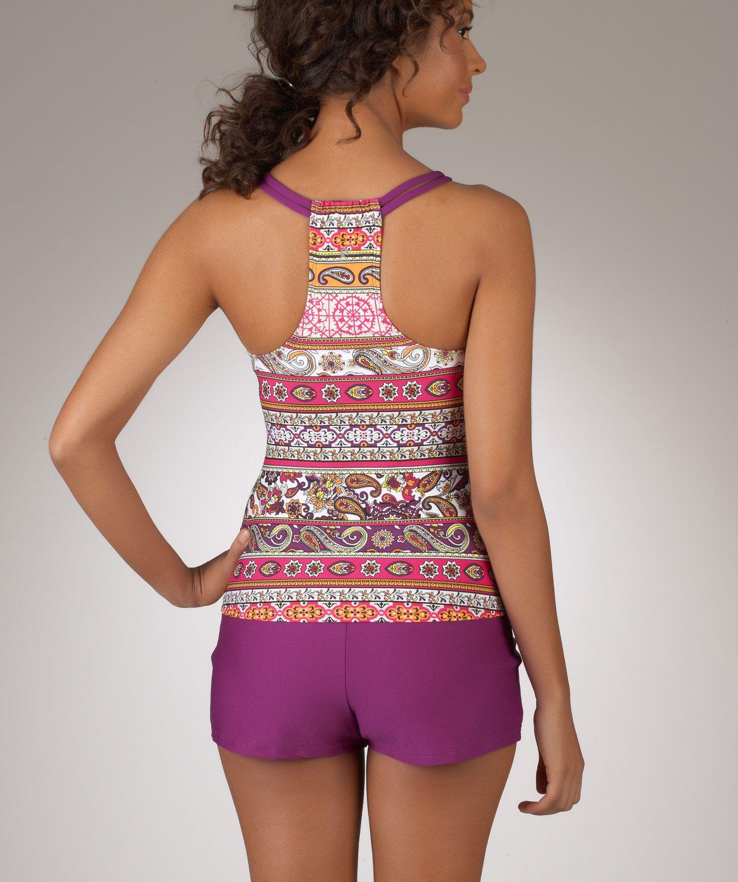 Inner Chakra Shirred Tankini Top | Active wear