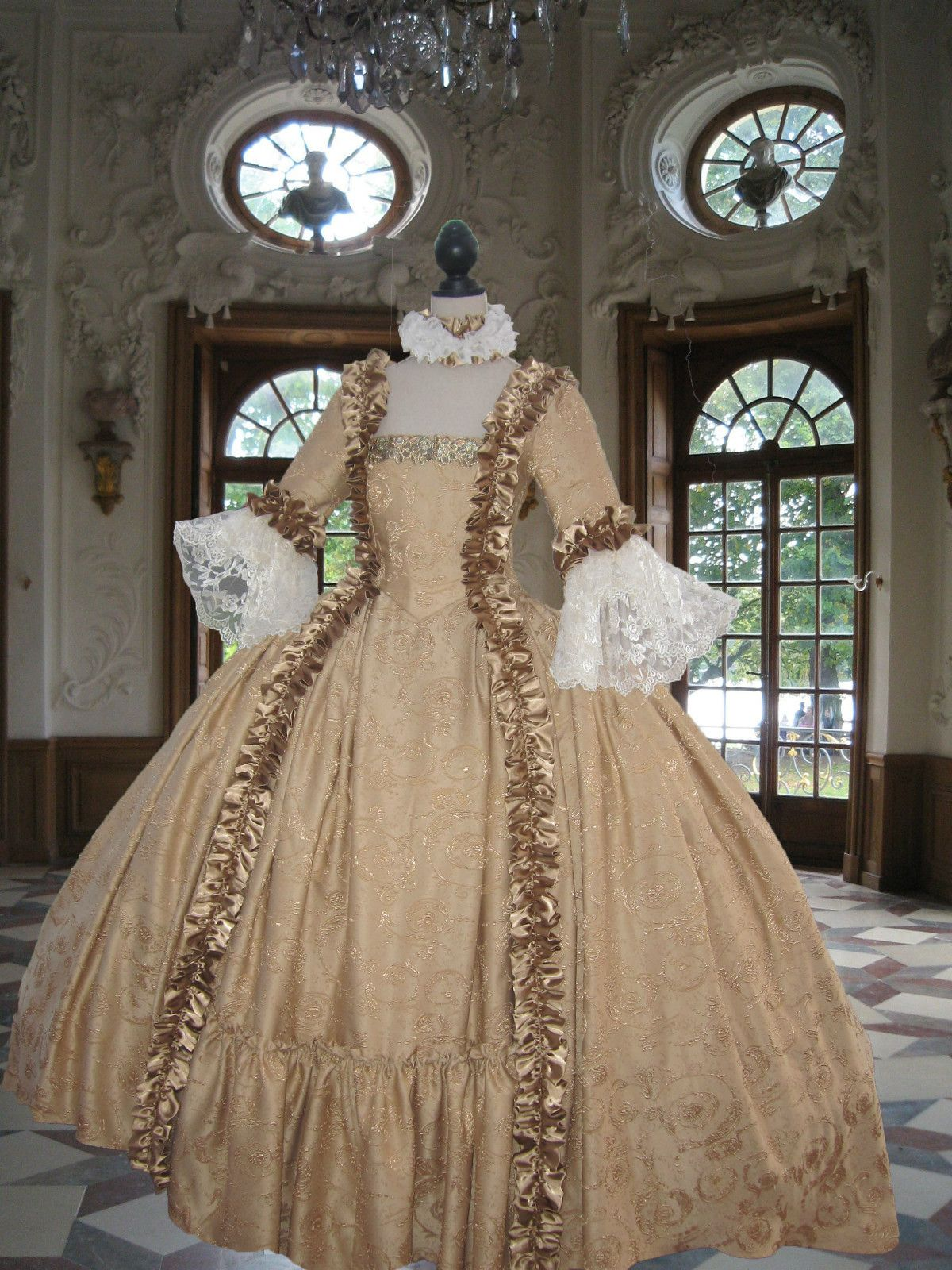 Georgian rococo colonial 18th century marie antoinette for 18th century wedding dress