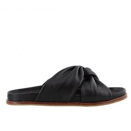 9f563b900f5c TALLULAH Black Leather Tony Bianco Casual Slide