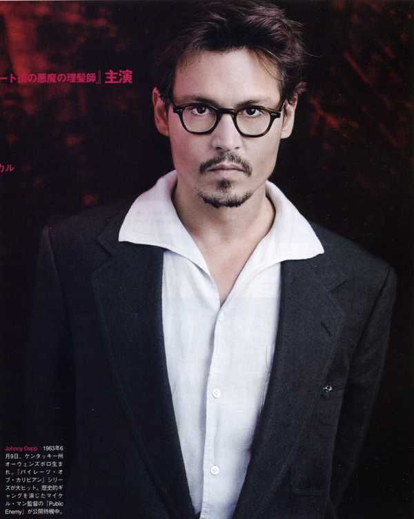 Johnny Depp loves Dolabany Arnold glasses!