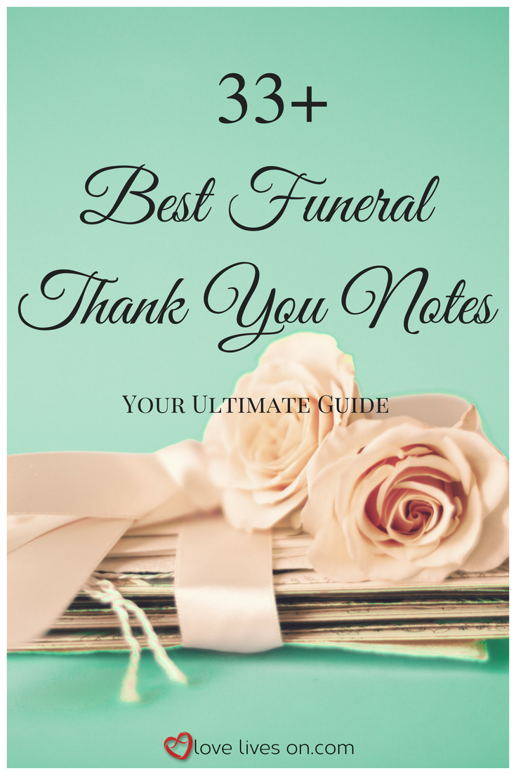 Thank You Notes For Funeral Food