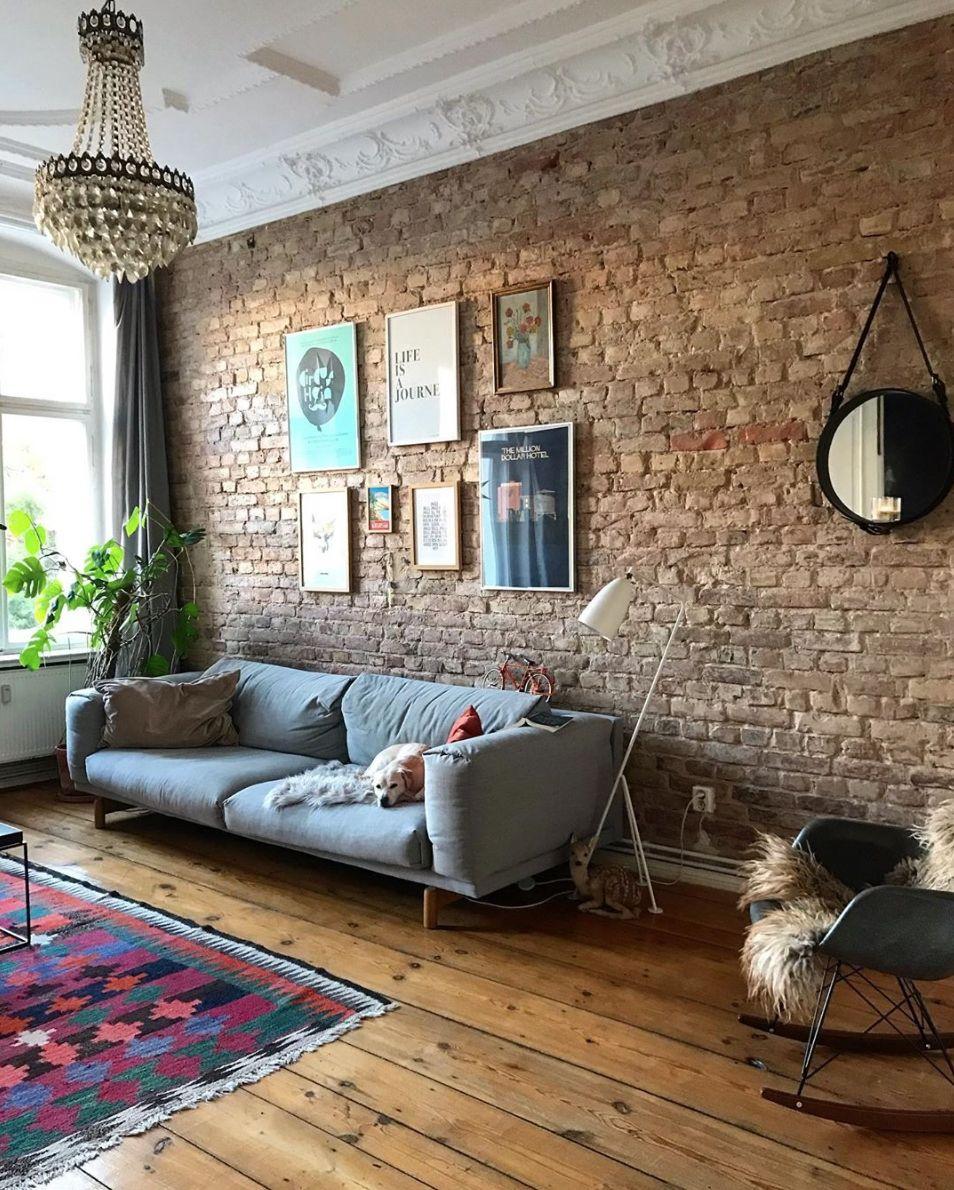 faulervormittag   Steinwand wohnzimmer, Wohnen, Wohnzimmer gestalten