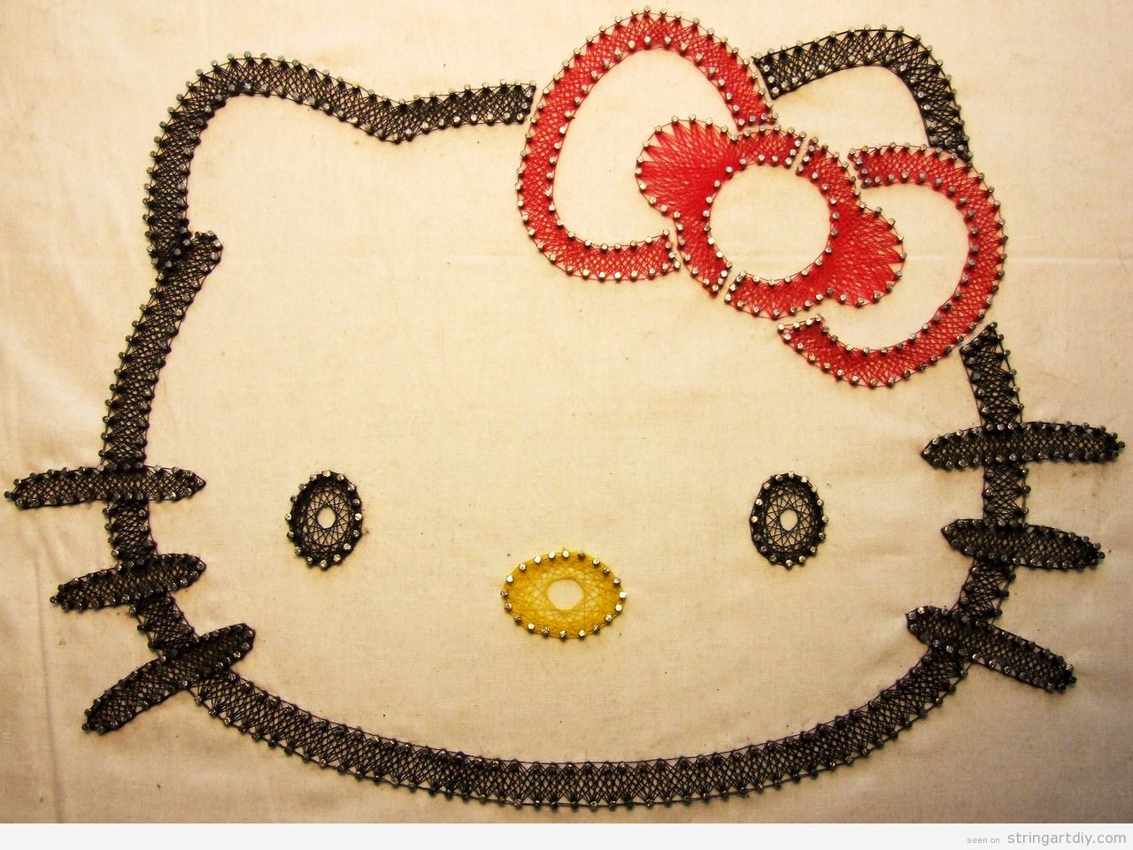 Hello Kitty String Art | String Art | Pinterest | String art, Hello ...
