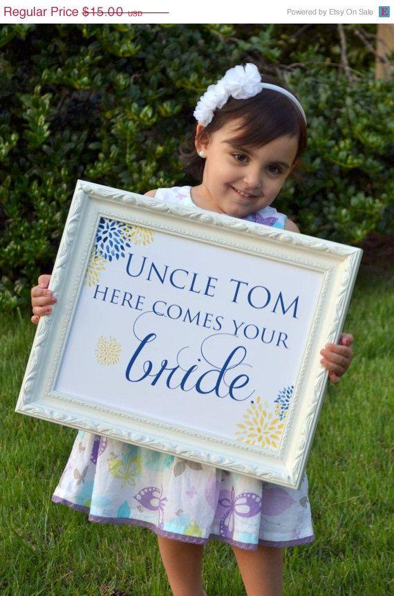 "Here Comes The Bride"" Signboard Ideas | Princess Wedding Ideas ..."