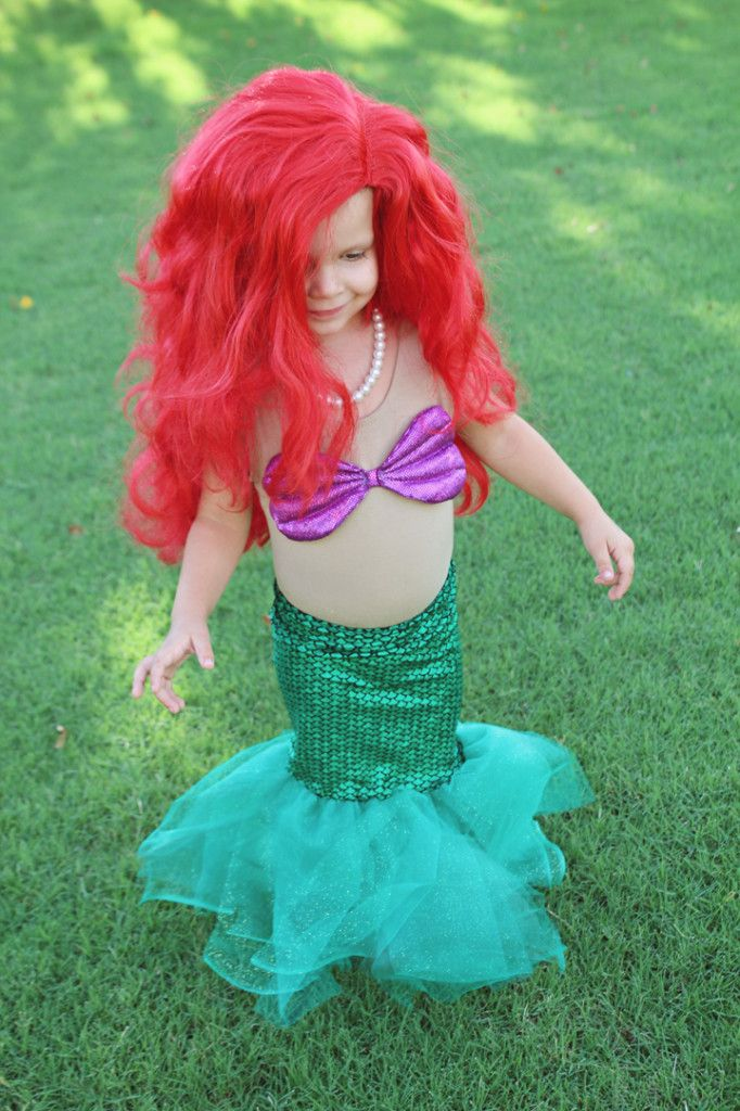 DIY Little Mermaid Halloween Costume - Itu0027s Ariel! SO CUTE! & DIY Little Mermaid Halloween Costume - Itu0027s Ariel! SO CUTE ...