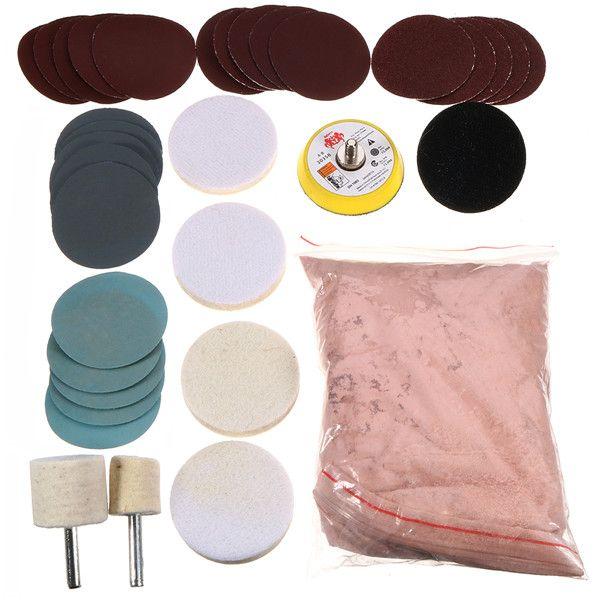 Ossido Di Cerio Vetro.Us 17 50 34pcs Kit Di Lucidatura Per Vetro 8oz 230g Polvere