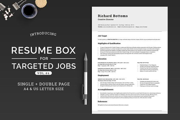 Resume Box for Targeted Jobs V1 by SNIPESCIENTIST on - executive resume templates word