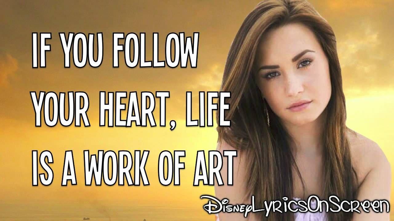 Demi Lovato - Work of Art (Lyrics Video) HD - love this song | songs ...