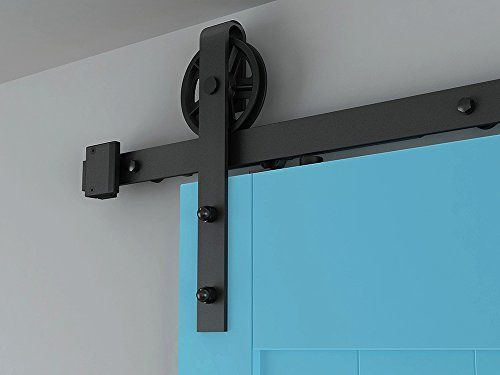 Industrial Big Spoke Wheel Sliding Barn Door Interior Closet Door Hardware Kit