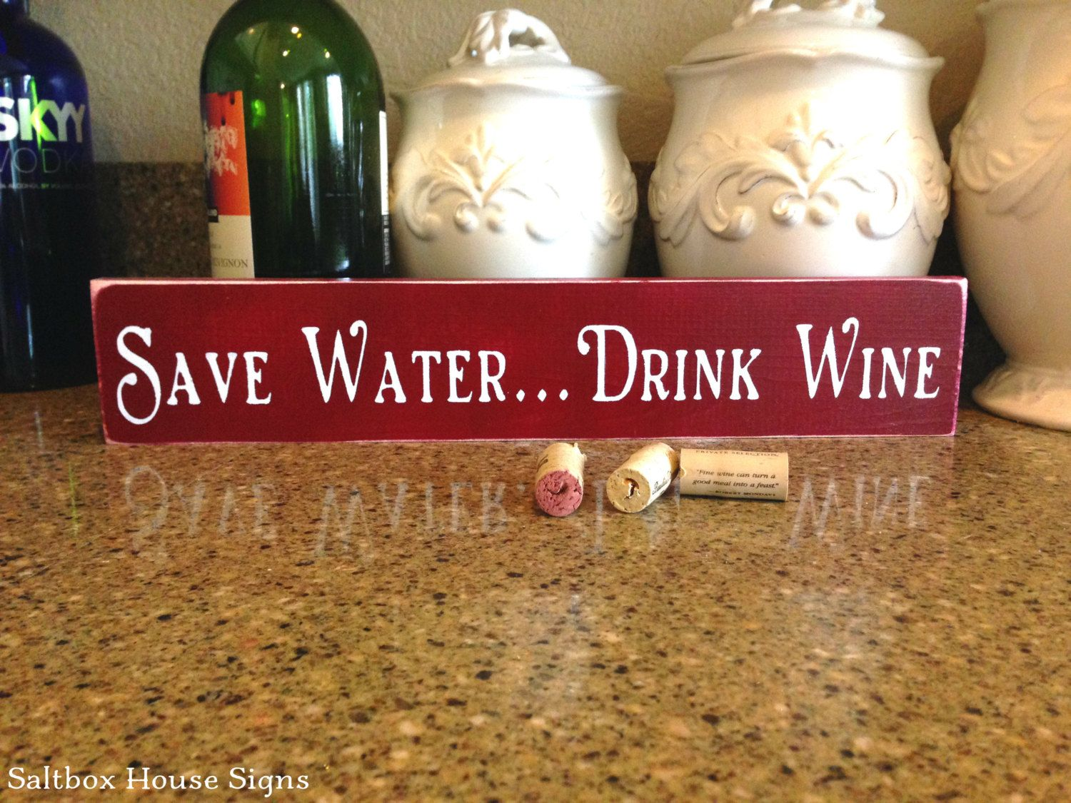Save Water Drink Wine Sign Save Water Drink Wine Signs Wine Signs Save Water Drink Wine