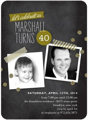 40th birthday party invitation from tiny prints with washi tape and 40th birthday party invitation from tiny prints with washi tape and chalkboard designs with a little filmwisefo Image collections
