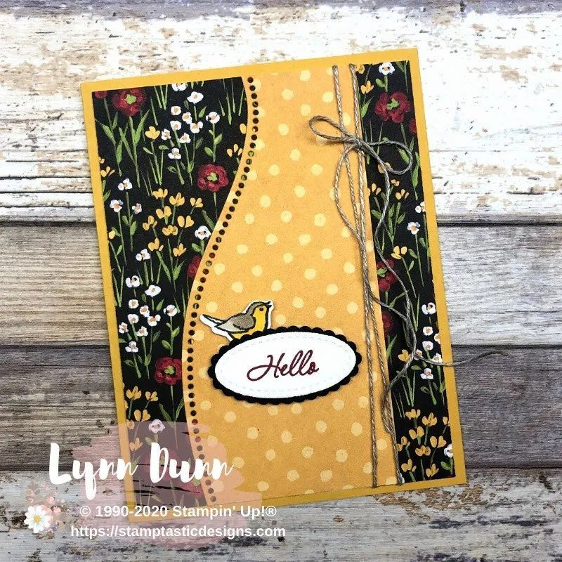 Quite Curvy Card Ideas - Flowers and Fields DSP |