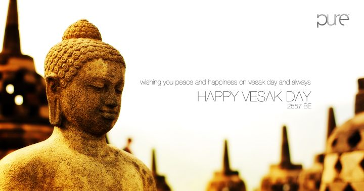 Happy Vesak Waisak Day Celebrating The Birth And Life Of Buddha