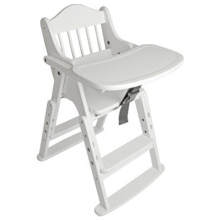 Stupendous Safetots Folding Wooden High Chair White Wood Amazon Co Uk Gmtry Best Dining Table And Chair Ideas Images Gmtryco