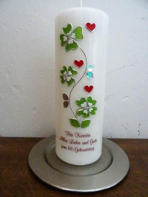 Birthday candle cladumens, gift to birthday 50., 60th, 70th, 80th, 90th, give away a bean-lucky