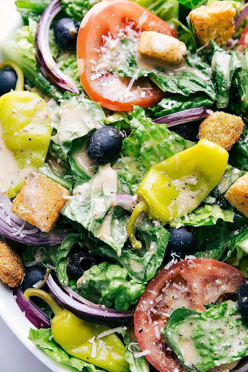 Olive Garden Salad Recipe in 2020 Garden