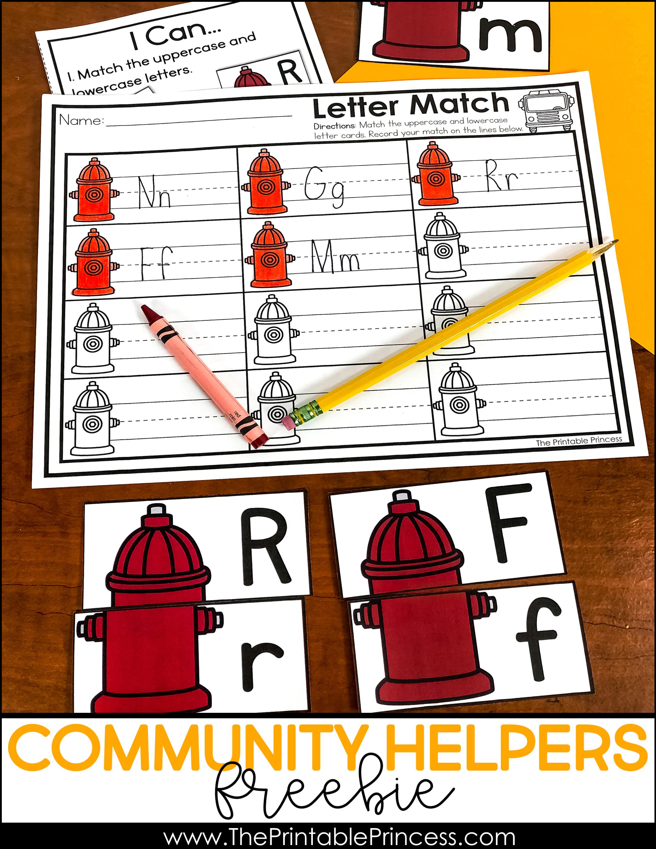 Community Helpers Activities For Kindergarten