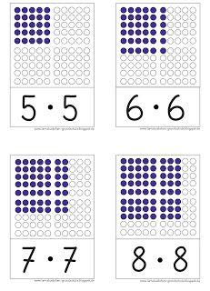 Lernstübchen: hier die Quadratzahlen als Aufgabenkarten | Matematika ...