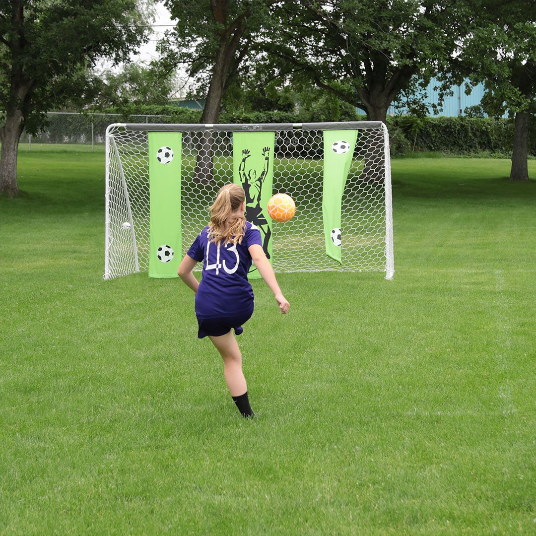 Great for backyard practice and play, this soccer goal ...