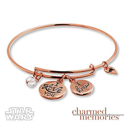 Show off your intergalactic love story with this rose gold Star Wars