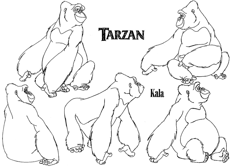 Refart At Calarts Tarzan Gorilla Model Sheets 2 Tarzan Gorilla Gorillas Art Jungle Drawing