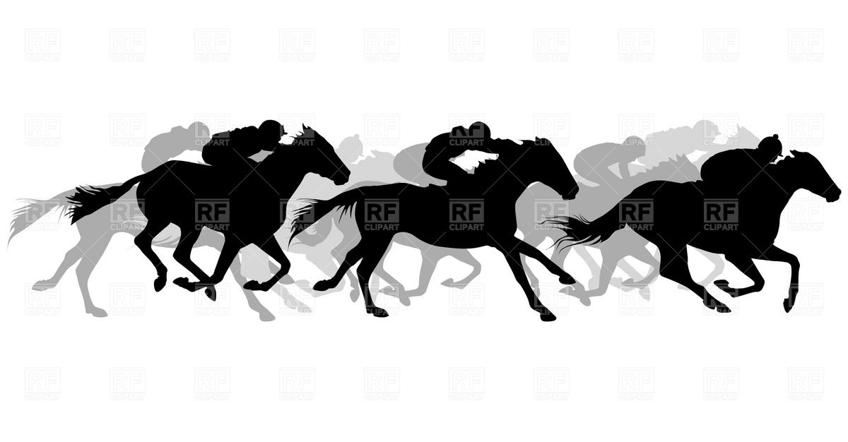 Running Horse And Rider Silhouette