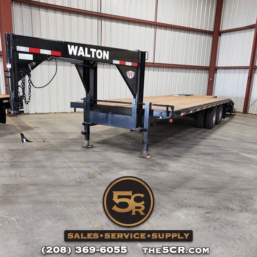 2019 Walton 26′ Flatbed GN (With images) Flatbed trailer