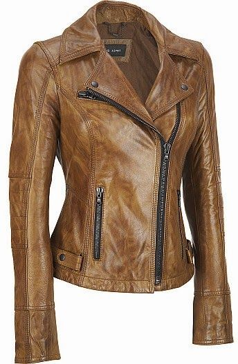 Leather Black Jacket Womens