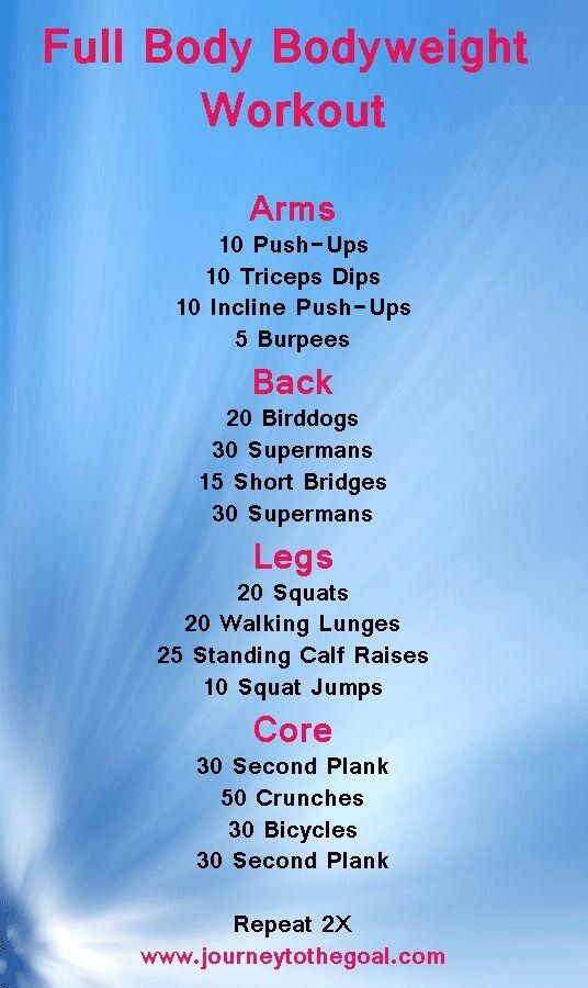 Full Body Bodyweight Workout