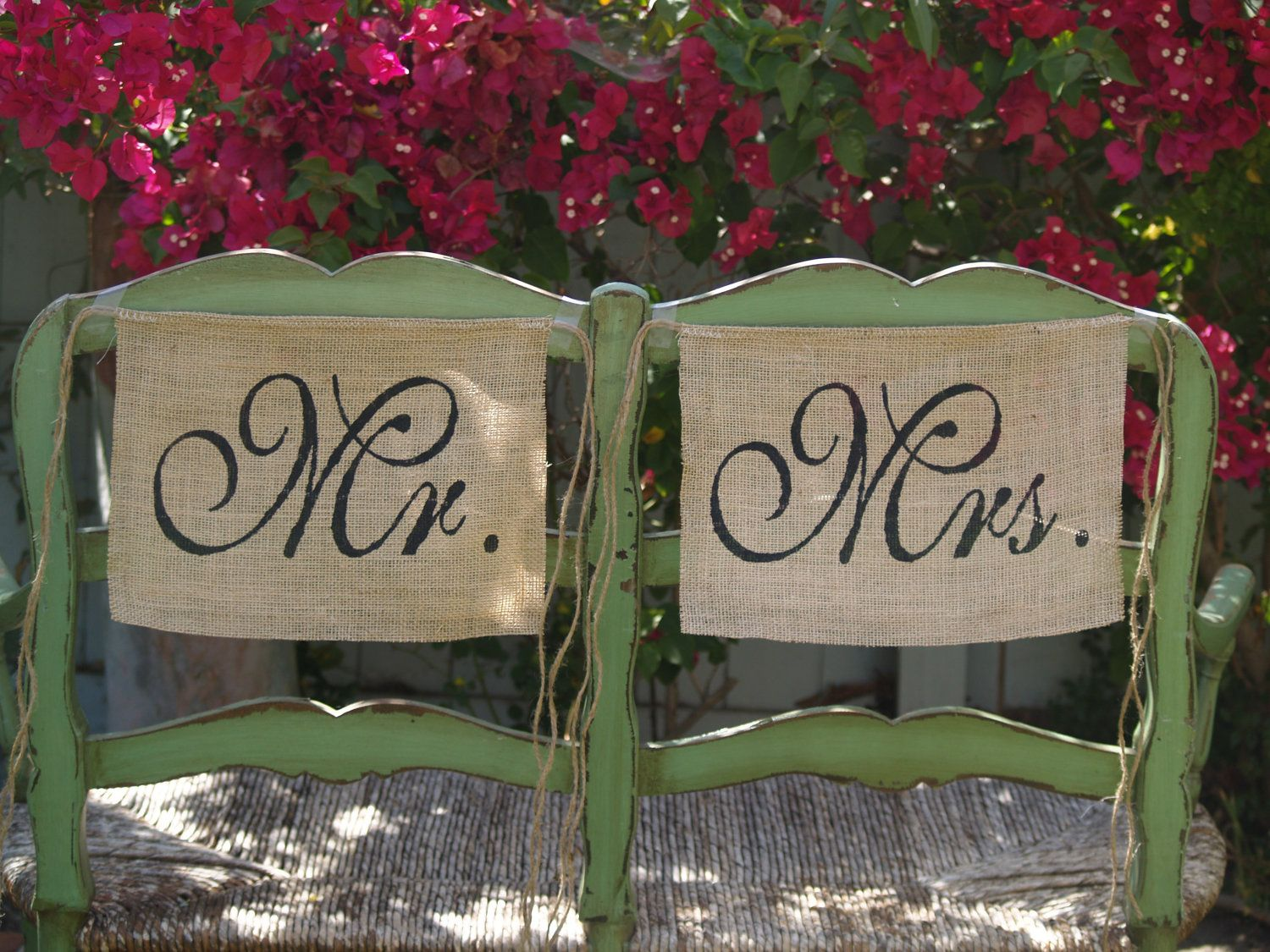 Find This Pin And More On Wedding Event Planning Burlap Chair Signs